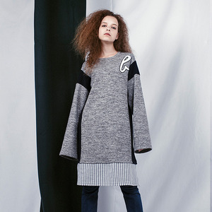 Layered Coloration Dress (GRAY)