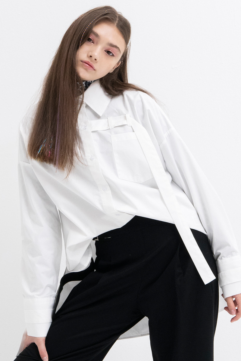 Belt Detail Shirts (WHITE)