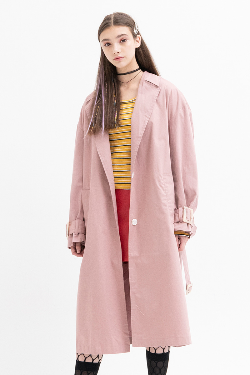 Oversized Trench Coat (PINK)