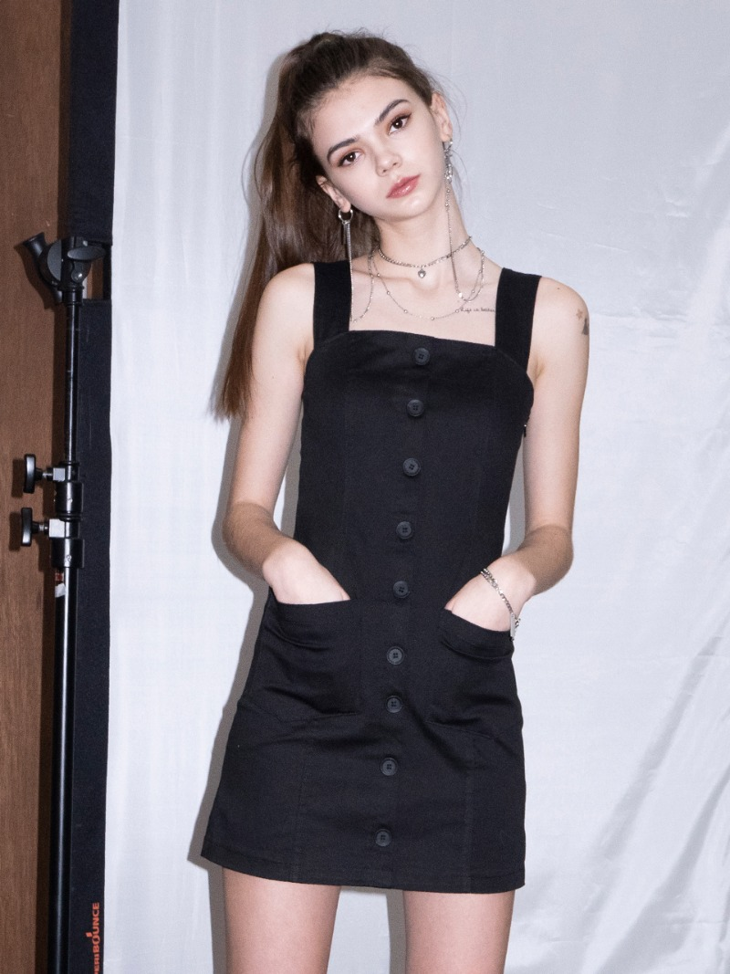 Suspender Dress (BLACK)