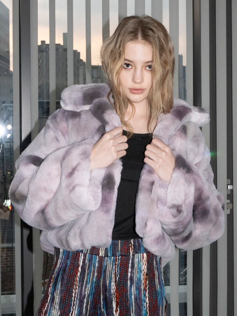 Aurora Fur Jacket [purple]